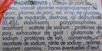 Saucisson cuit à l'ail goût fumé - Ingredients - fr
