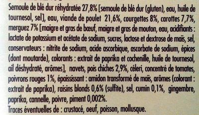Couscous Royal - Ingredients - fr
