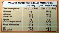 Couscous Royal - Nutrition facts - fr