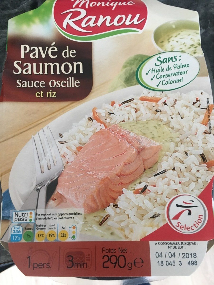 Pavé de Saumon sauce oseille et riz - Product