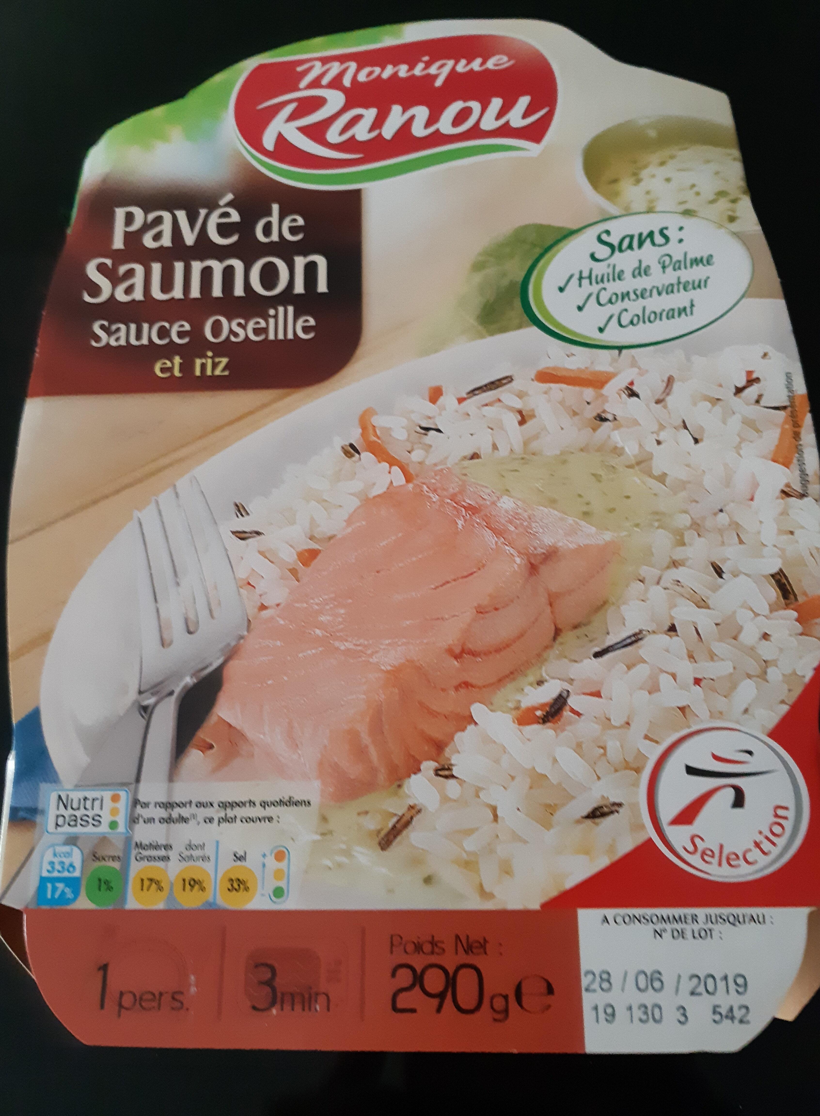 Pavé de Saumon sauce oseille et riz - Nutrition facts