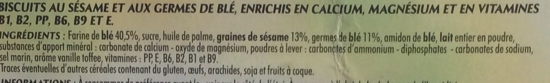 Biscuits Sésame - Ingredients