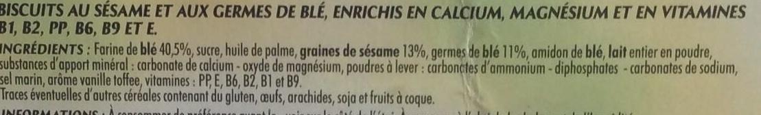 Biscuits Sésame - Ingrédients - fr