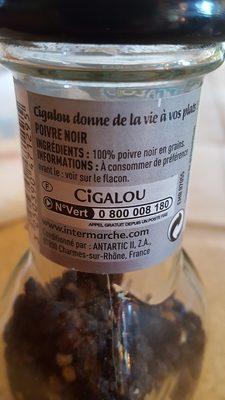 épices Cigalou Poivre Noir En Grain - Ingrédients