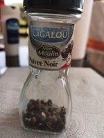 épices Cigalou Poivre Noir En Grain - Informations nutritionnelles