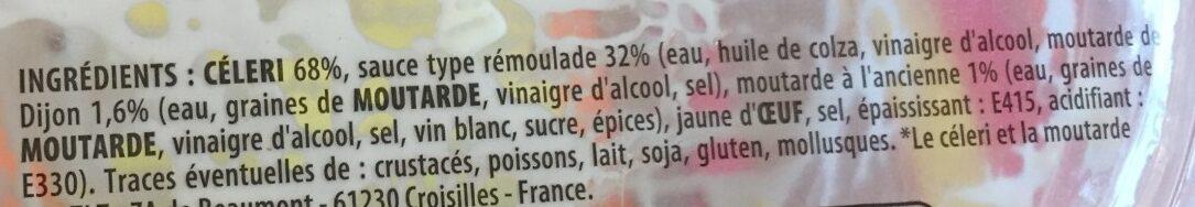 Céleri rémoulade duo de moutarde - Ingredienti - fr