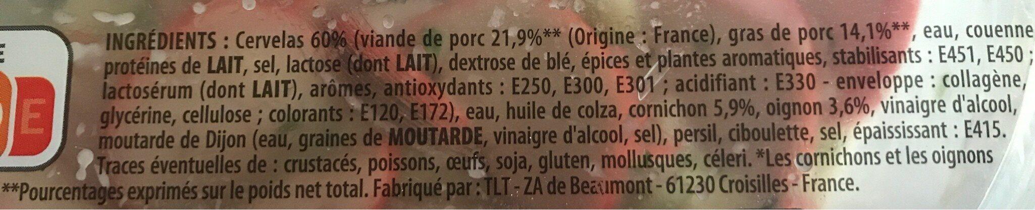 Salade de cervelas - Ingrédients