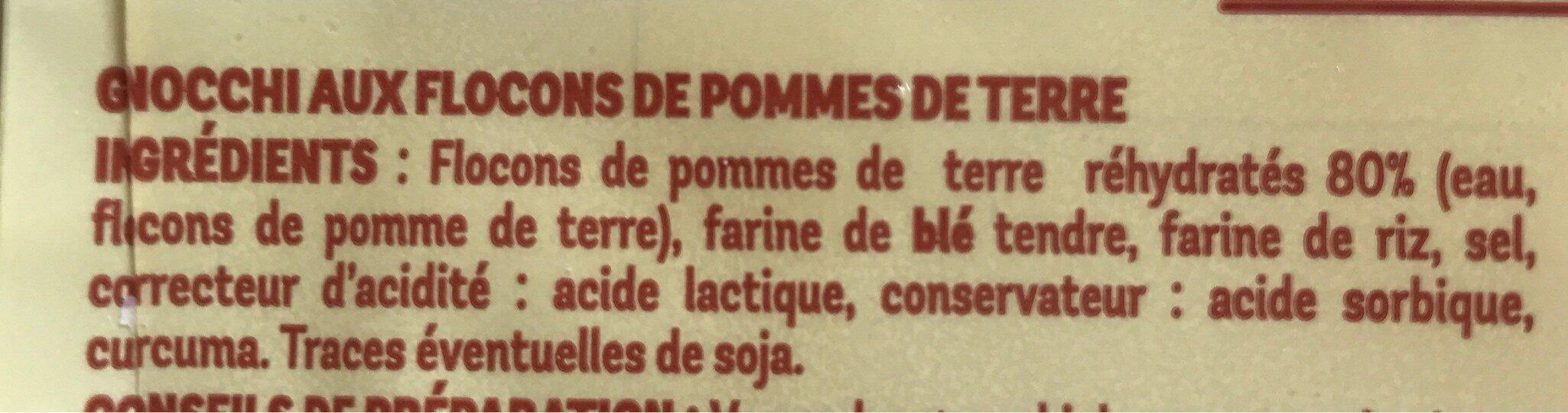 Gnocchi aux Pommes de Terre - Ingredients - fr