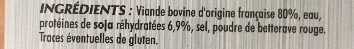 Le tendre - Ingrédients - fr