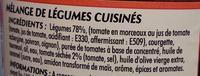 Notre Ratatouille Cuisinée et ses tomates séchées - Ingredienti - fr