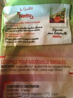 Sauvanet Legumes Pour Ratatouille Surgele - Ingredients - fr