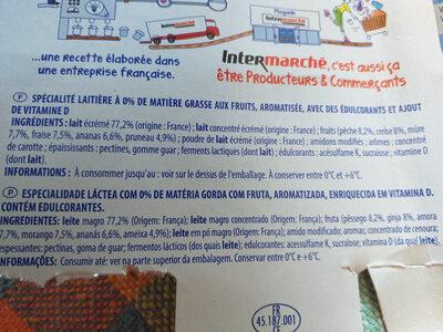 Printiligne Les Fruits - Ingrediënten - fr