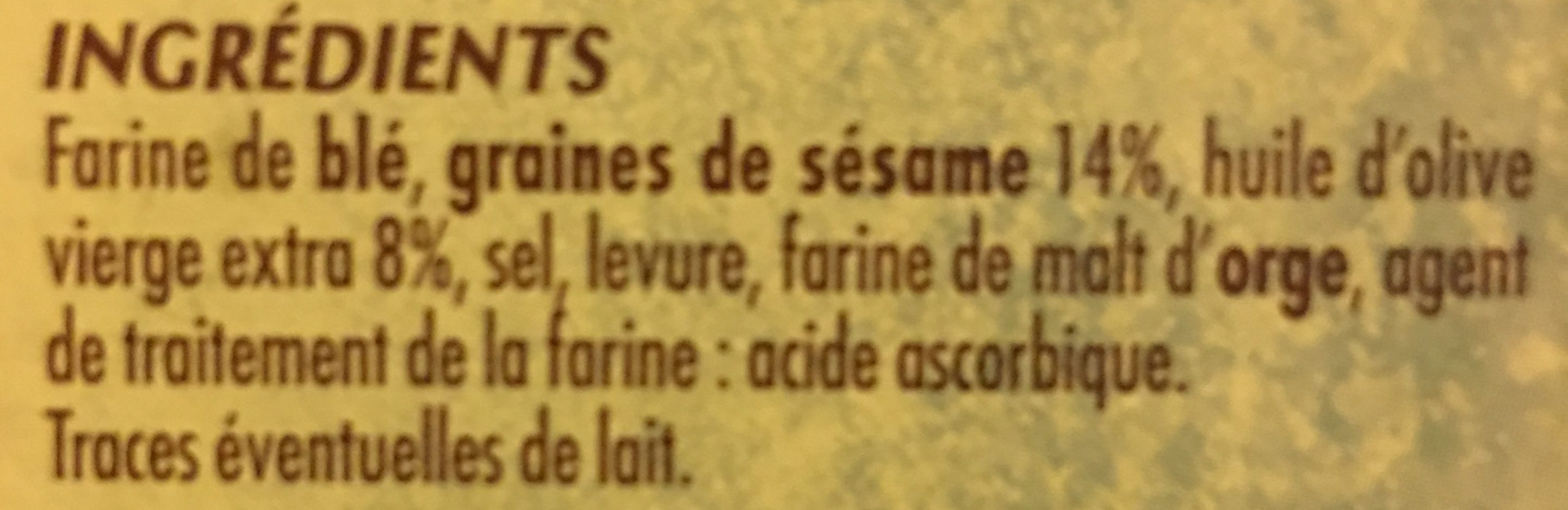 Bouton Or Baguette Sesam - Ingrédients