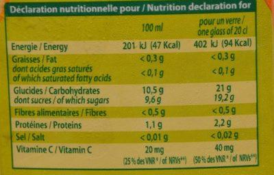 Jus d'orange 1L - Voedingswaarden