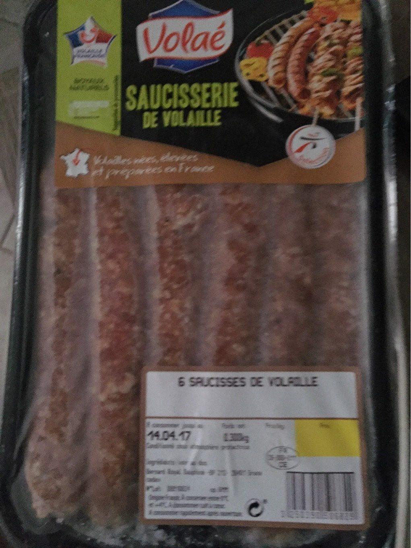 Saucisses De Volaille x 6 - Informations nutritionnelles - fr
