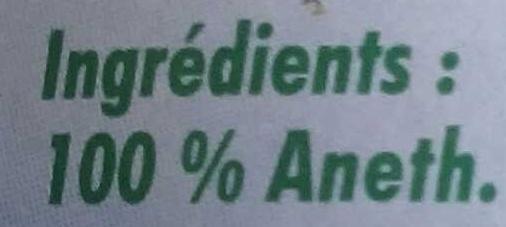 Aneth - Ingrédients - fr