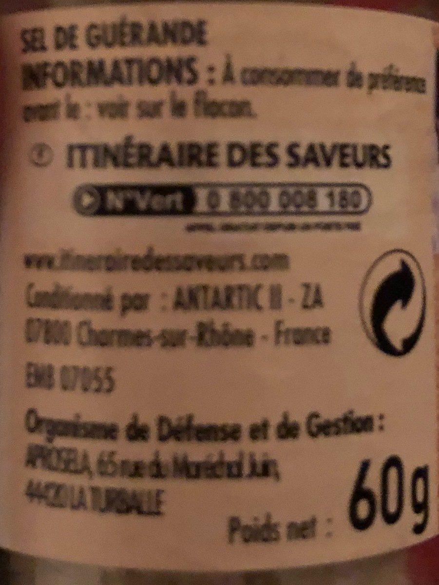 Sel de Guérande Moulin - Ingrédients - fr