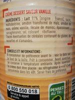 Netto Creme Dessert Saveur Vanille - Ingrédients - fr