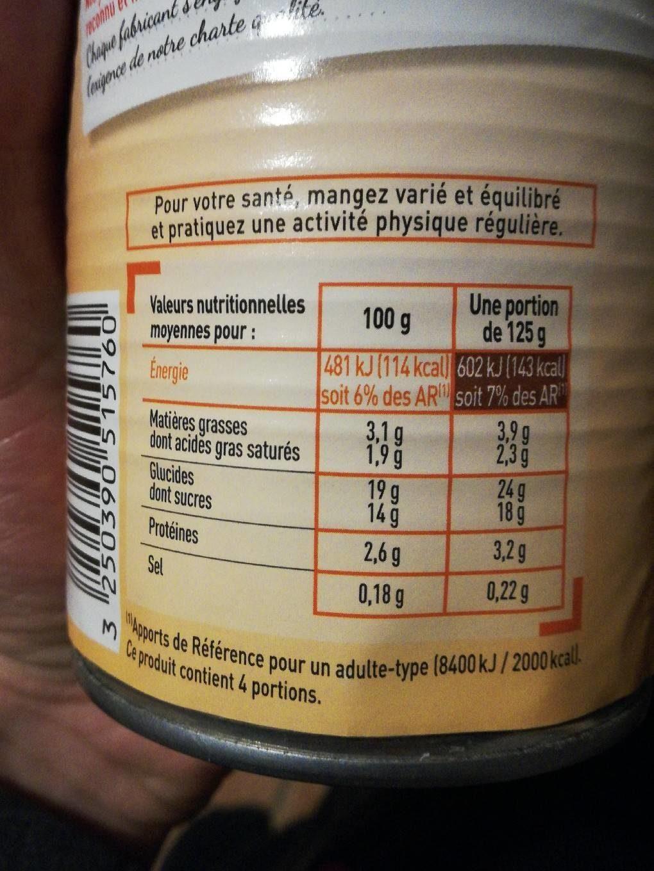 Netto Creme Dessert Saveur Vanille - Informations nutritionnelles - fr