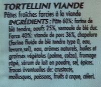Tortellini à la Viande - Ingrédients
