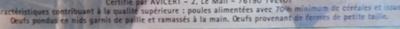 Oeufs frais Fermiers (x 12) Label Rouge - Ingredients - fr