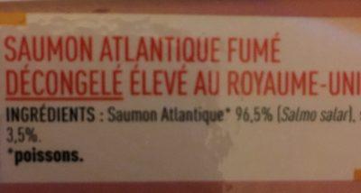saumon fumé ecosse - 150g - Ingrediënten - fr