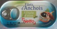filets d'anchois allongés à l'huile d'olive - Product