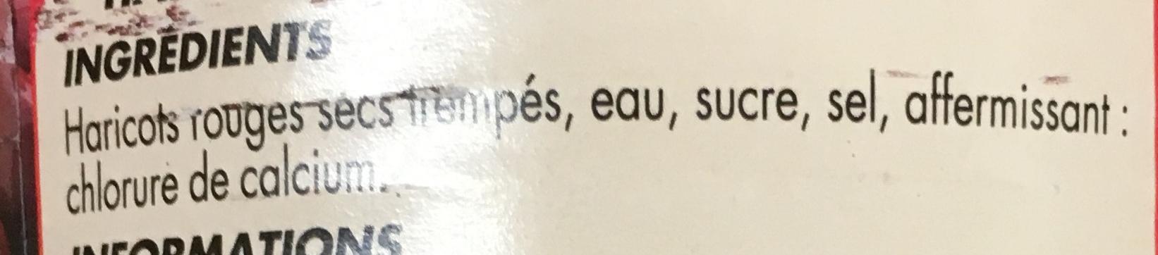 Haricots rouges - Ingrediënten