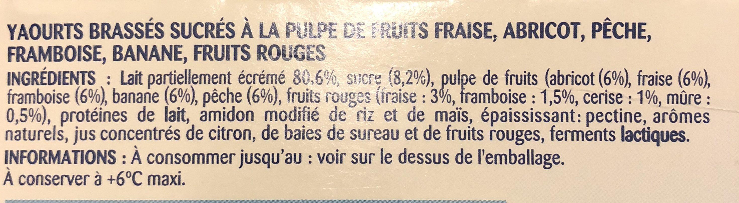 P'tits Onctueux Pâturages - Ingrédients - fr