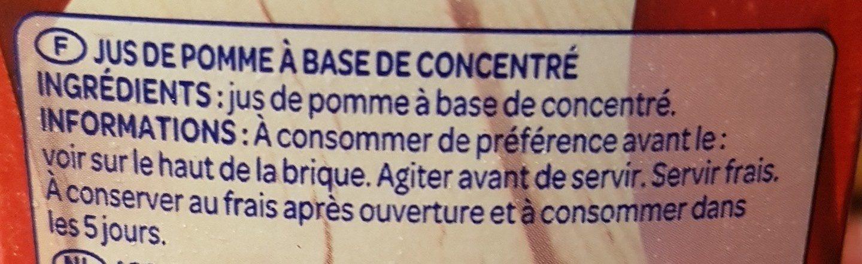 Jus de pomme à base de concentré - Ingredienti - fr