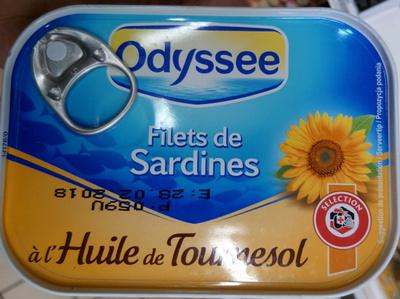 Filets de Sardines à l'Huile de Tournesol - Produit