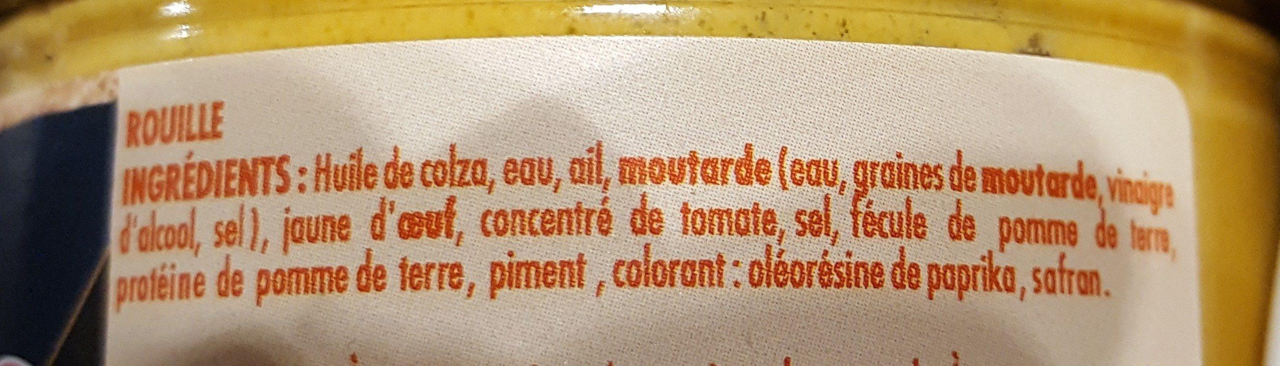Rouille - Ingrédients - fr
