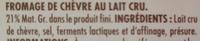 Rocamadour aop - Ingrediënten - fr