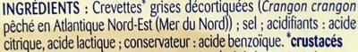 Crevettes grises décortiquées et cuites - Ingrédients - fr