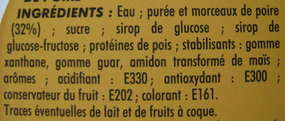 Sorbet poire Adélie - Ingrédients