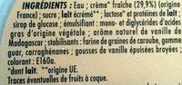 Vanille de Madagascar - Ingredients