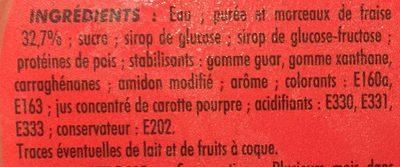 Sorbet Adelie fraise - Ingredients - fr