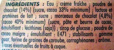 Crème glacée chocolat Adélie - Ingrédients - fr