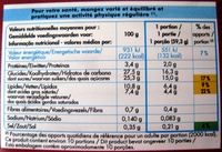 Crème glacée chocolat Adélie - Informations nutritionnelles