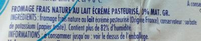 Fromage frais 0% - Ingrediënten - fr