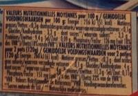 Fromage frais 0% de matière grasse - Informations nutritionnelles
