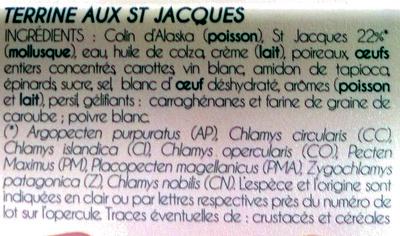 Terrine aux Saint-Jacques* à la Bretonne - Ingrédients - fr