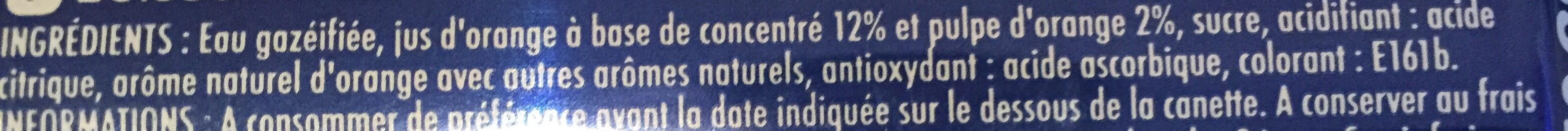 Pulp Orange - Ingredients - fr