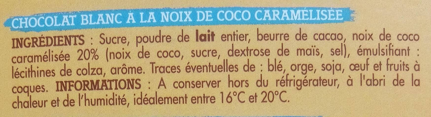 Blanc Noix de Coco Caramélisée - Ingrediënten