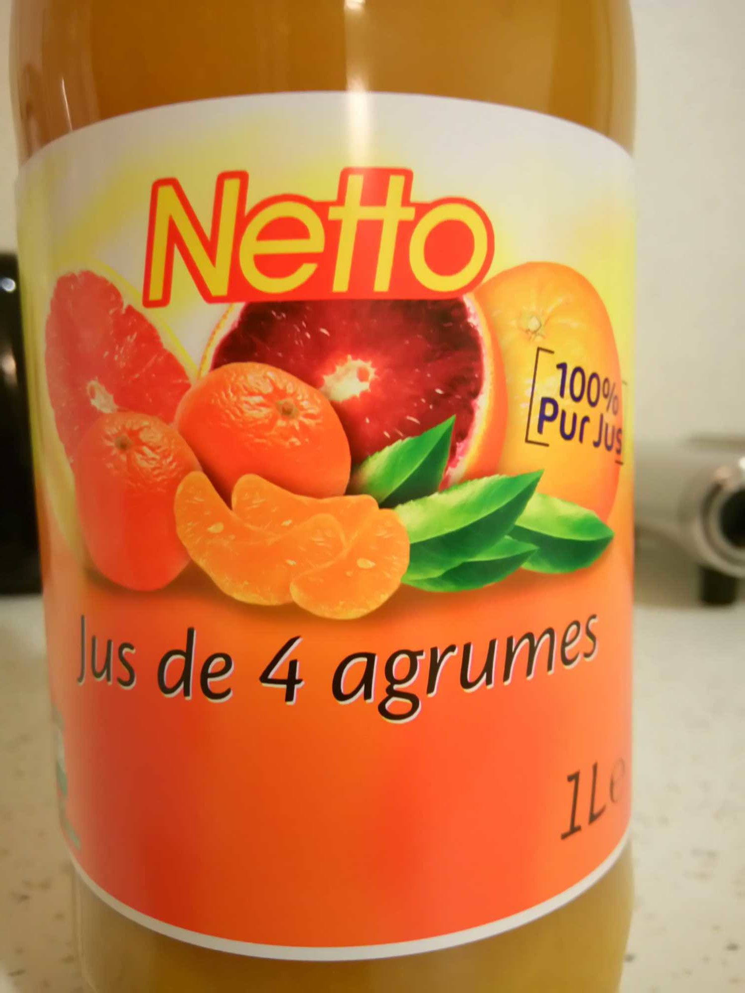 100% Pur Jus 4 agrumes - Product