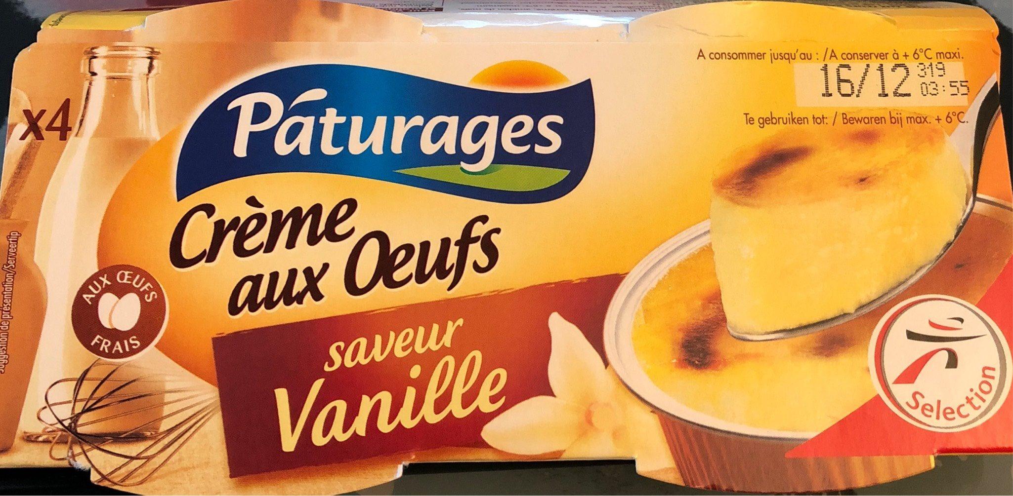 Crèmes Aux Oeufs Saveur Vanille, 4 X 125 Grammes - Produit - fr