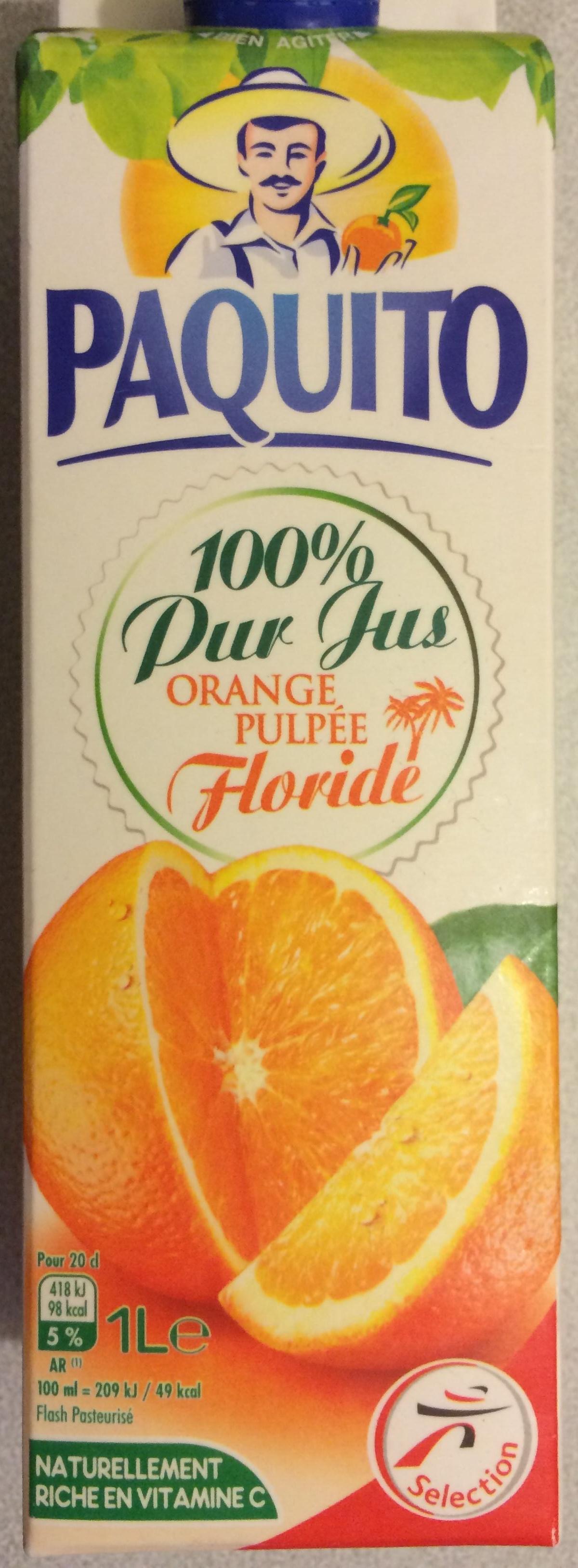 100 % Pur Jus Orange avec pulpe Floride - Product - fr