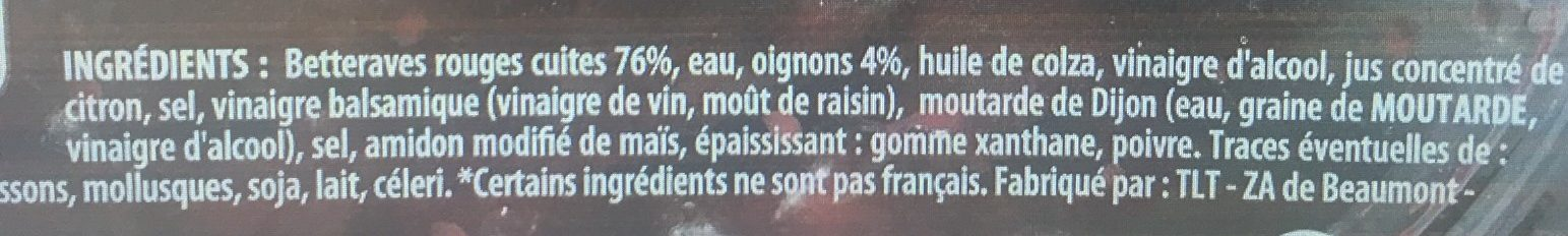 Betteraves Rouges - Ingredients - fr
