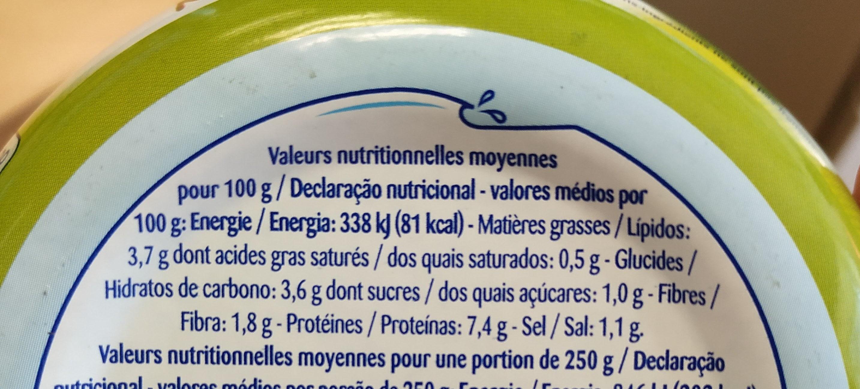 Salade du large - Informations nutritionnelles - fr
