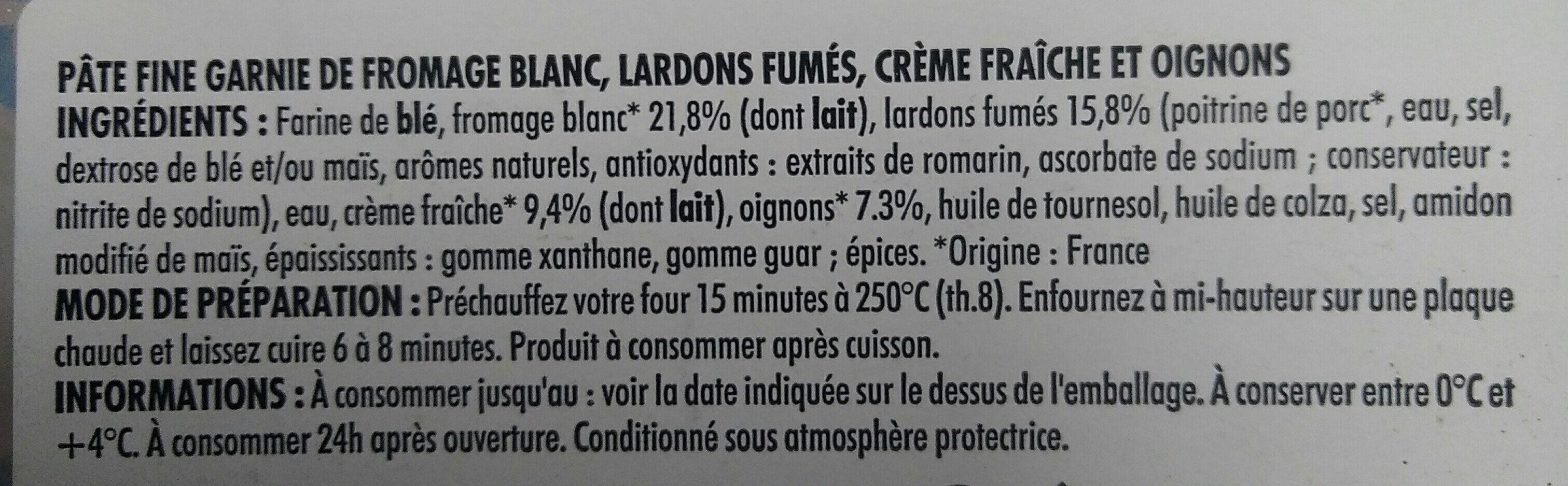 Flammekueche - Ingredients - fr